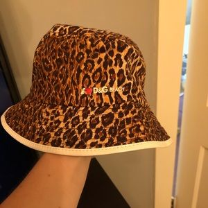 NWOT Authentic Dolce & Gabbana Leopard Bucket Hat